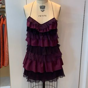 Free People purple sz 2 ruffle dress
